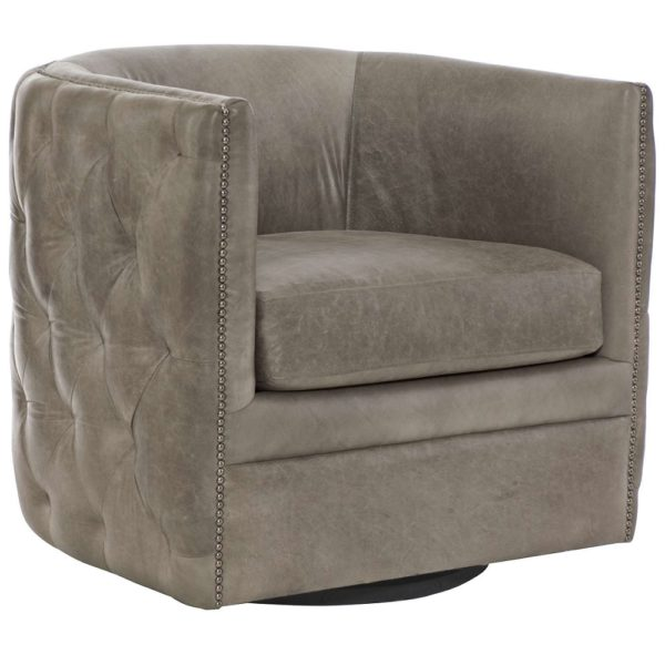 Exquisite Living Tufted Leather Chair