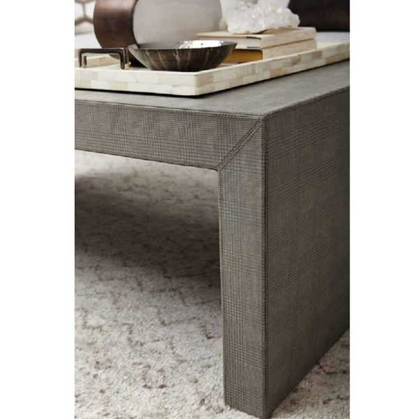 Exquisite Living Fabric Rectangle Coffee Table 3