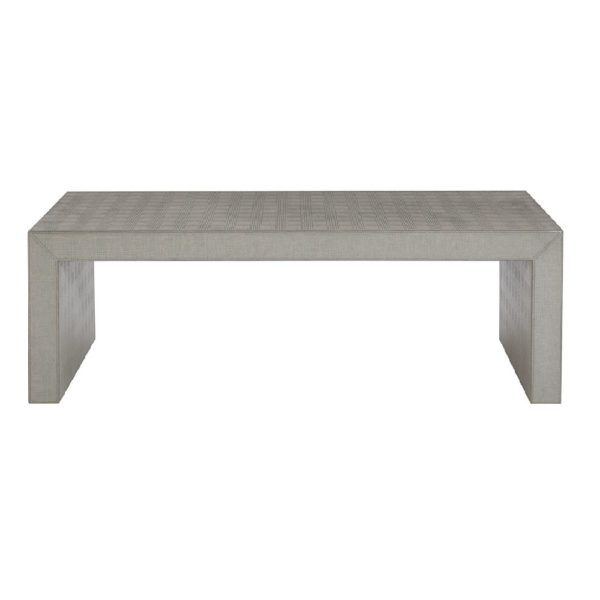 Exquisite Living Fabric Rectangle Coffee Table