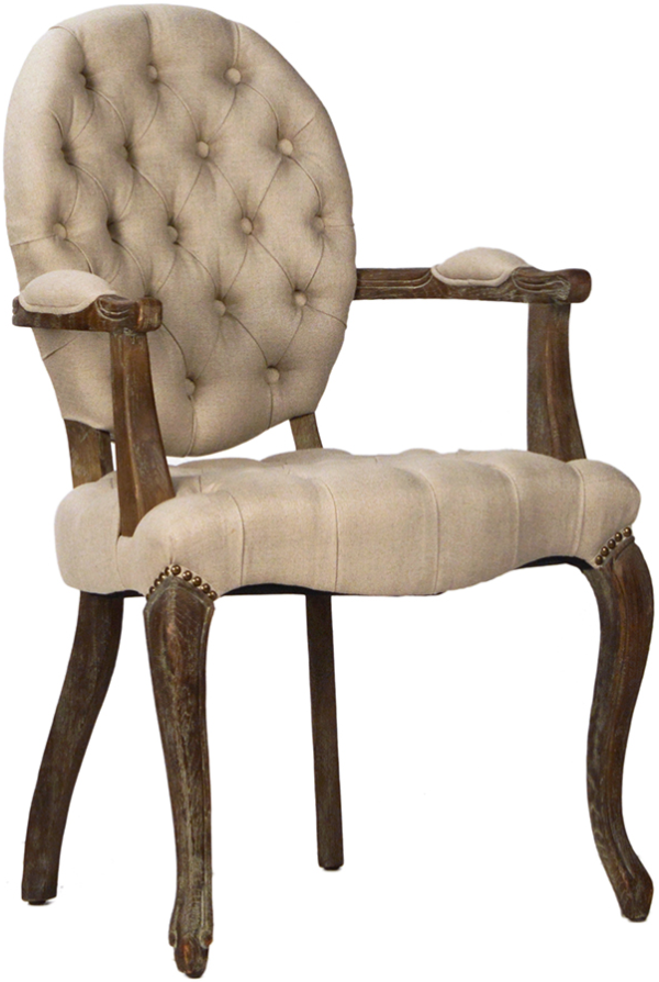 TUFTED BACK DINNING ARMCHAIR, VD-9114.PN