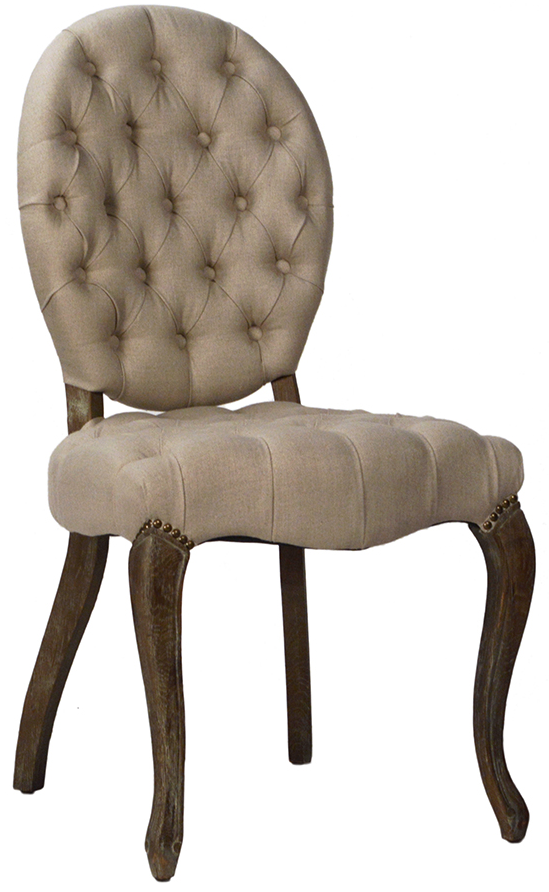 TUFTED BACK DINNING CHAIR, VD-9113.PNG